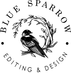 Blue Sparrow Black